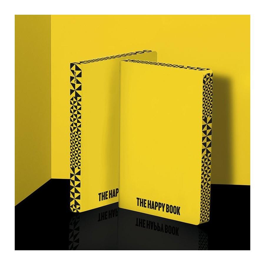 Nuuna exklusiv skrivbok anteckningsbok - GRAPHIC FAME L - THE HAPPY BOOK