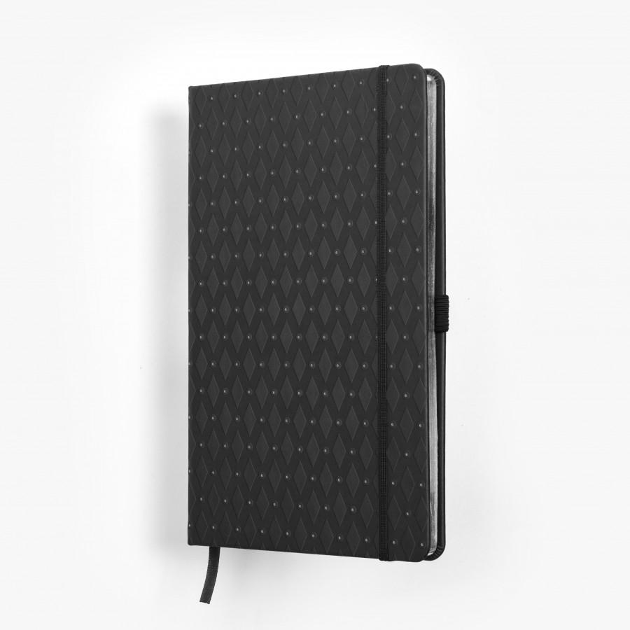 ROMB skrivbok - grå/silver djuppräglad - framsida/omslag