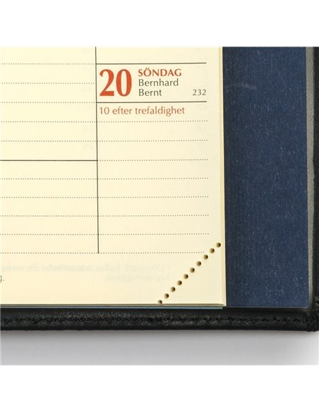 Klassisk äkta skinn MER-kalender - kontaktregister med flikar