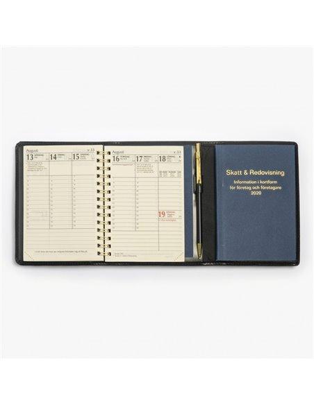 Klassisk äkta skinn MER-kalender - blått omslag