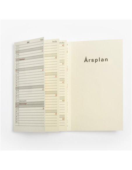 Klassisk konstskinn MER-kalender - anpassa med namnprägling och/eller logotype
