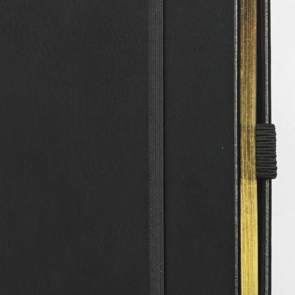 SKRIVI neutral svart och guld - exklusiv skrivbok - anteckningsbok - guldsnitt - zoom