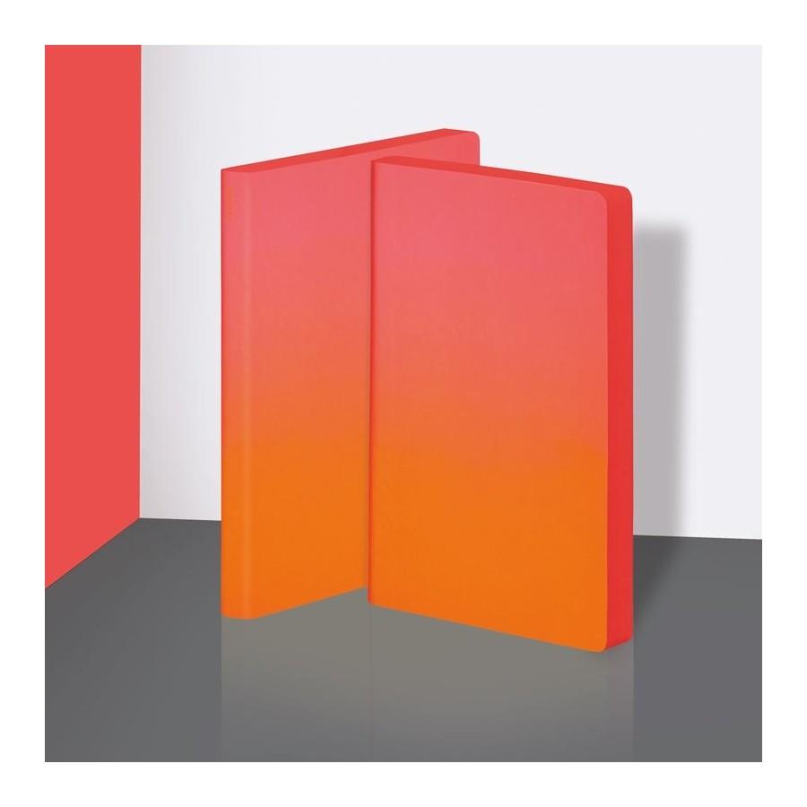 Nuuna exklusiv skrivbok anteckningsbok - COLOUR CLASH L LIGHT - HOT HOT