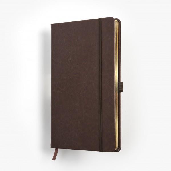 SKRIVI neutral brun och guld - exklusiv skrivbok - anteckningsbok - guldsnitt - många detaljer