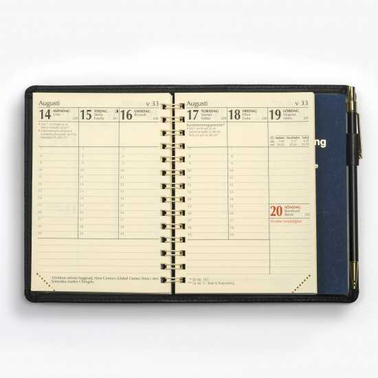 Tvådelad fickkalender -...