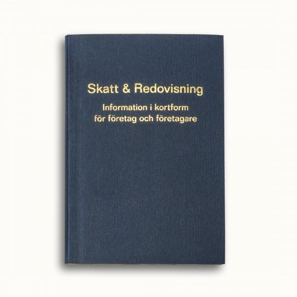 Tvådelad fickkalender 2021 - spriralbunden - äkta skinn - bilaga boken Skatt & Redovisning 2021  - 96 sidor kunskap