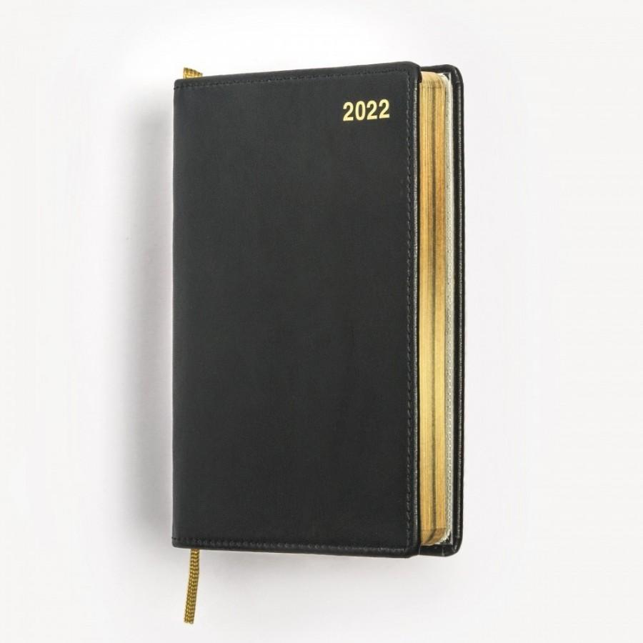 Exklusiv fickkalender 2022 - äkta skinn - guldsnitt