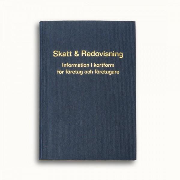 Tvådelad fickkalender 2022 - spiralbunden - äkta skinn - bilaga boken Skatt & Redovisning 2022 - 96 sidor kunskap