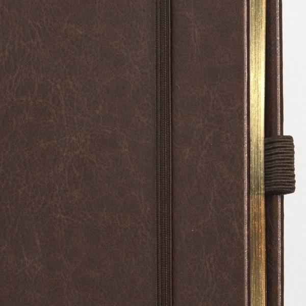 SKRIVI neutral svart och guld - exklusiv skrivbok - anteckningsbok - guldsnitt och elastiskt band i fokus - 3