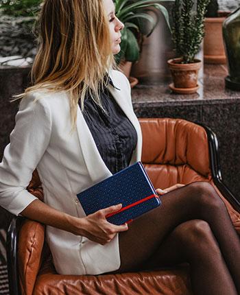 Personlig notebook med prägling